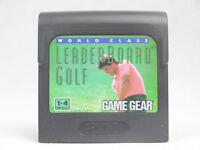 World Class Leaderboard Golf Sega Game Gear Cartridge