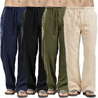 Vintage Männer Casual 100% Baumwolle Hosen Yoga Kordelzug Lose elastische Hose