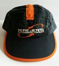 Pepe Jeans London PJL Capsule Adjustable Strap Back Black Orange Rare Cap Hat