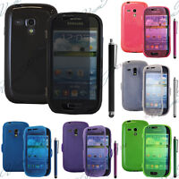 Accessoire Housse Coque Portefeuille Livre Silicone TPU Galaxy S3 III Mini I8190