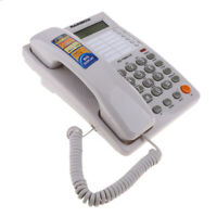 Corded Phone with Speakerphone and Caller ID/Call Waiting, Memory White