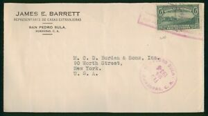 Mayfairstamps Honduras 1934 James E Barrett Borden and Sons Cover wwp_62895