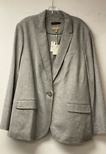 Nwt Talbots 18W Gray Cashmere And Wool Blend Blazer