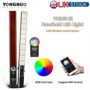 EU Yongnuo YN360 III LED Video Light Handheld Stick Bar Bicolor 3200-5500K RGB