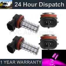 2X H8 PINK 60 LED FRONT MAIN HIGH BEAM LIGHT BULBS HIGH POWER KIT XENON MB500401