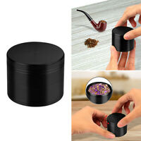 4 Piece Magnetic 2 Inch Black Tobacco Herb Grinder Spice zinc alloy With scraper