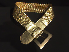 WOMAN BELT GOLD BRAIDED VINTAGE 90's - Size Small