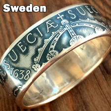Sweden ✪ Sverige ✪ Suecia ✪ Myntringar Swedish Silver Coin Ring ✪ Coin Ring