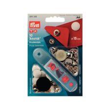 Prym 10 Nähfrei- Druckknöpfe 15 mm weiß glatt 390306