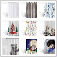 Waterproof Fabric Various Pattern &12 Hooks Bathroom Shower Curtain Multichoice