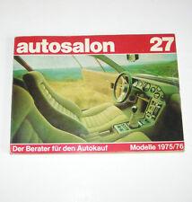Autokatalog / Autosalon in Buchform Nr. 27 - Autotypen Übersicht Modelle 1975/76