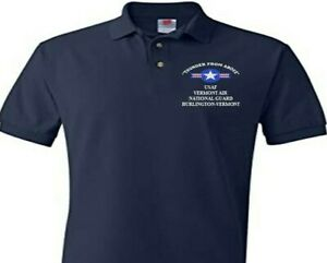 VERMONT AIR NATIONAL GUARD  USAF EMBROIDERED POLO SHIRT/SWEAT/JACKET.