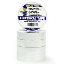 Electrical Tape White Vinyl Electric Tape 5 Pack 34 X 66 Ft