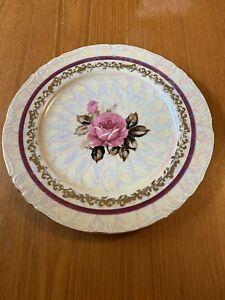 Stunning Rose Pearl Lustreware Decorative Plate