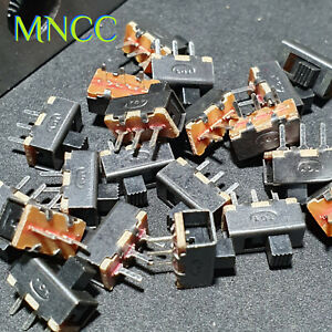 1-5pcs Vertical Slide Toggle Switch On/Off 1P2T SPDT 3.0mm Pin Pitch SS12F17G3