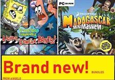 2X PC GAMES Spongebob SquarePants: Lights Camera Pants & MADAGASCAR MINI MAYHEM