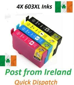 LOT Ink Cartridge for Epson 603XL XP-2100 XP-2105 XP-3100 WF-2810DWF WF-2830DWF