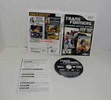 Transformers -- Ultimate Battle Edition (Nintendo Wii, 2013) 2 games