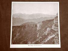 Veduta del 1916 Il Monte Maggio visto da Costa Mesole Trentino Alto Adige