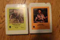 Lot 2 Freddie Hart Country 8-tracks 8-track tapes Tested working 8 track