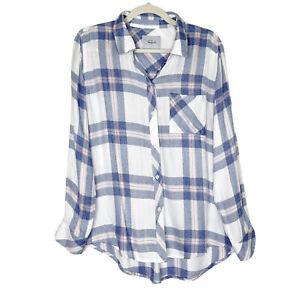 Rails Plaid Shirt Womens Size Medium Hunter Flannel Button Down Top