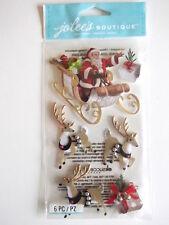 Jolee's Boutique 3D stickers - Santa & Sleigh - Christmas Theme - reindeer