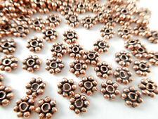 150 Daisy Spacer 4mm Solid Copper Bead Findings 66250