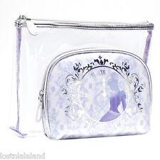 SOHO Disney Limited Edition Cinderella 2-Piece Clutch Set Cosmetic Bag