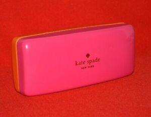 Kate Spade Eyeglasses Case Hard Pouch Storage Travel Sunglasses Holder Pink