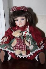 "Marie Osmond LE Tiny Tot I Love You Beary Much 7"" Porcelain Doll MIB"