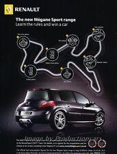 2007 Renault Megane Sport Original Advertisement Print Art Car Ad J858