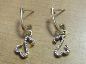 Jane Seymour 14Kt Diamond Open Heart Earrings Set