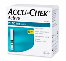 Accu Chek Active Diabetic 500 Strips for Glucometer Sugar (100 Strips x 5 Boxes)