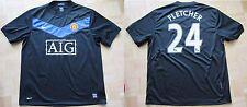 Darren Fletcher #24 MANCHESTER UNITED away shirt jersey NIKE 2009-10 men SIZE L