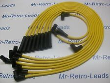 YELLOW 8MM PERFORMANCE IGNITION LEADS MOPAR CHEVROLET BIG BLOCK HEI QUALITY LEAD