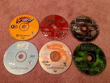 Lot of 6 Sega Dreamcast Games Disc Only - Crazy Taxi, Tony Hawk