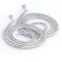 Vintage Solid Color Woven Shape Chain Necklace For Men Long Punk P1O7 Style B9P5