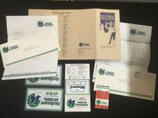 1980 Dallas Mavericks Nba Expansion 1st Year Promo Press Kit Stickers Schedule +