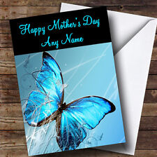 Blue Butterfly Personalised Mother's Day Greetings Card