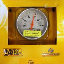 Auto Meter 4401 Ultra-Lite Vacuum Boost Mechanical Gauge 2 5/8 30 In.Hg/ 20 PSI