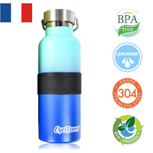 Bouteille Isotherme Gourde Thermos Inoxydable 500ml Froid 24h Chaud 12h Sport