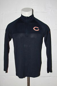EUC Under Armour Chicago Bears Half Zip Pullover Shirt Sz M Medium