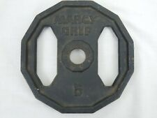 Vintage Single (1) Marcy Grip 5 Pound Plate 1 Inch Hole
