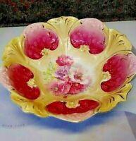 Vintage Beautiful Floral R S Prussia Bowl
