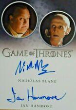 Rittenhouse Game of Thrones Season 8 Nicholas Blane Ian Hanmore Auto Autograph