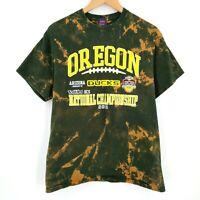Oregon Ducks NCAA BCS National Championship 2011 Custom Bleach Tie Dye T-Shirt M