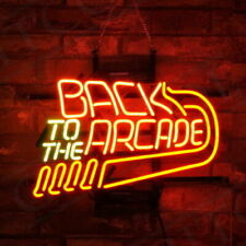 "Neon Light ""Back to the Arcade""Man Cave Game Room Wall Beer Bar Shop Club Sign"