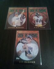 Topps Football Super Bowl MVP Ring of Honor 3 Card Lot see pics!