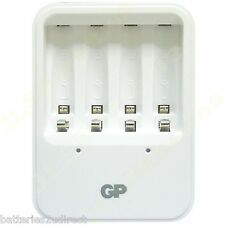 GP Mains charger for AA or AAA NiMh rechargeable batteries LED indicator UK PLUG