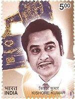 PHILA1968 INDIA 2003 GOLDEN VOICES OF YESTERYEARS KISHORE KUMAR CINEMA MNH